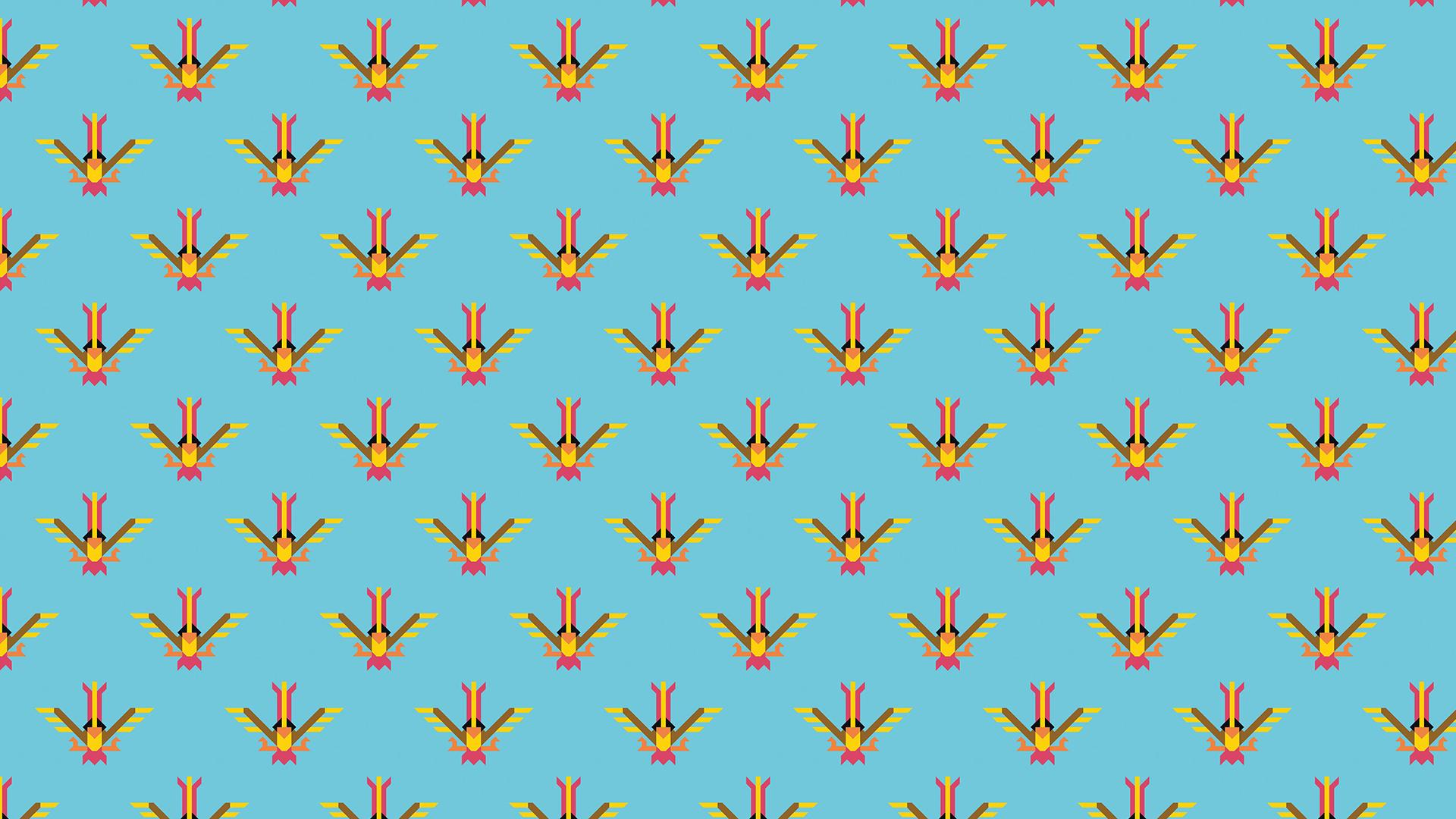 cartoon tile pattern pokémon