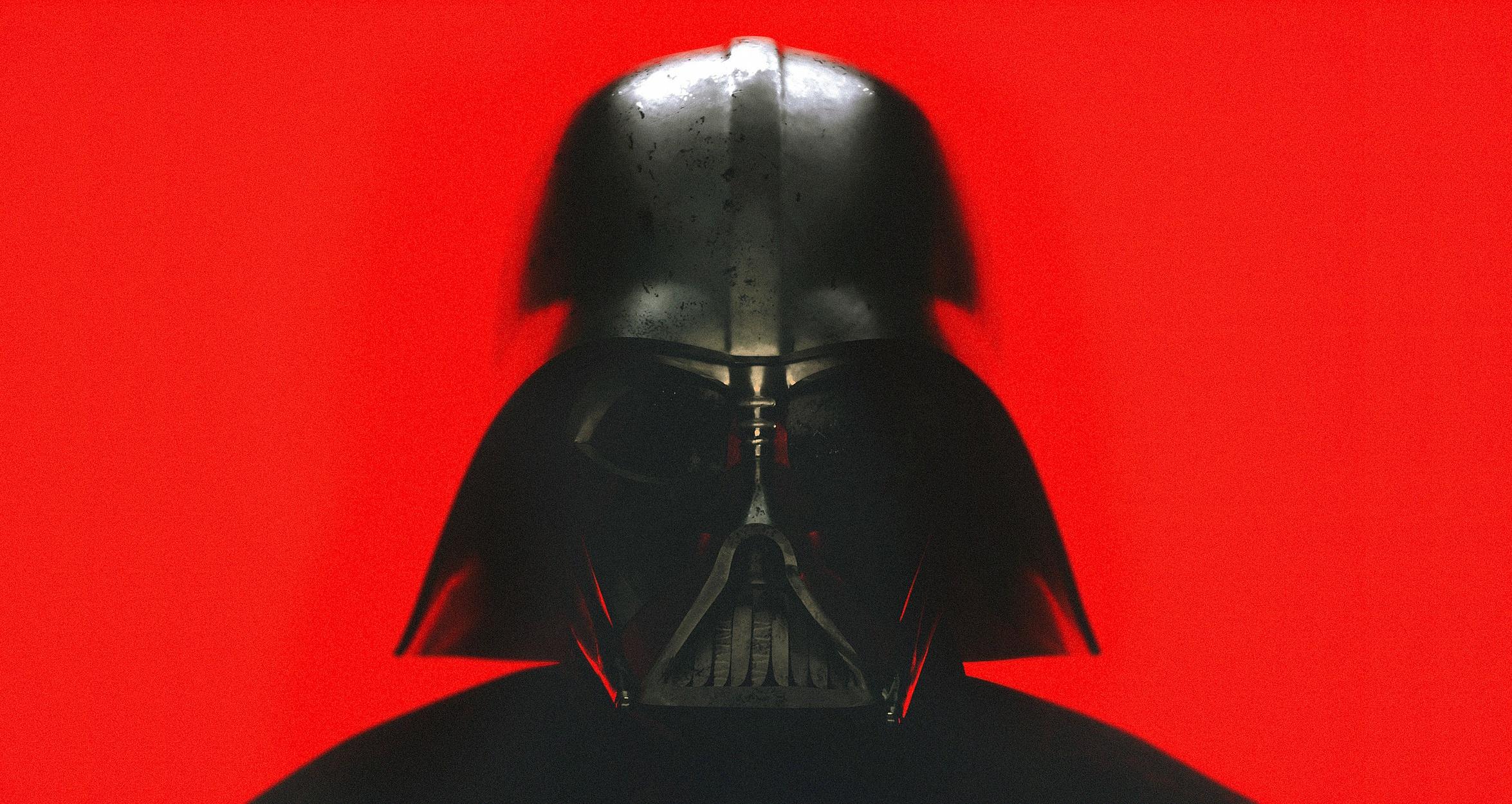 darth vader star wars red background