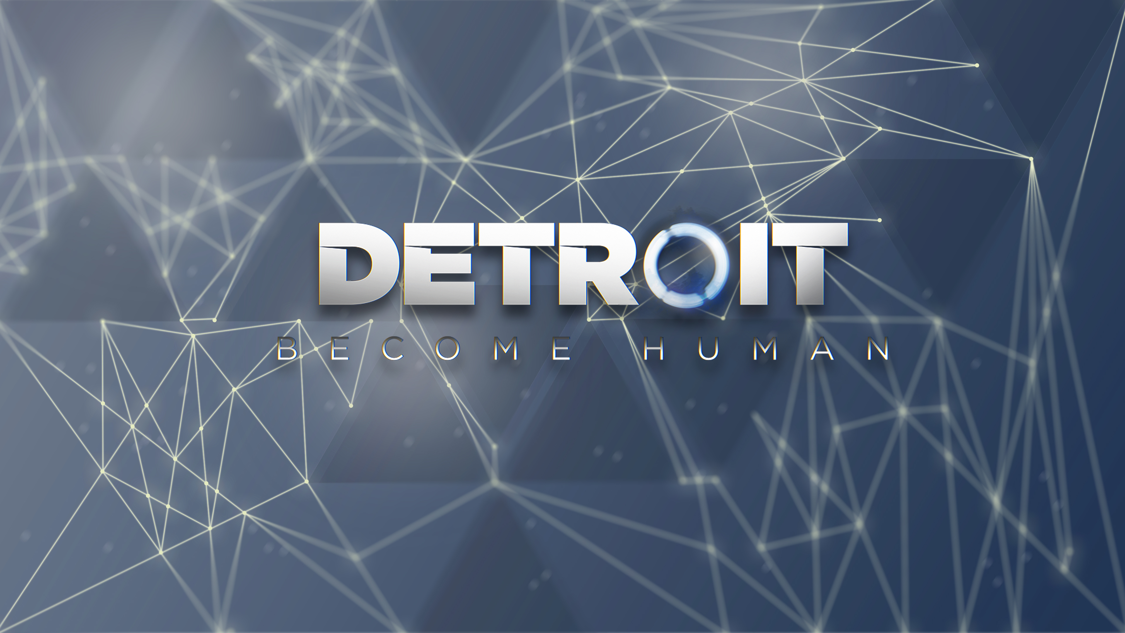 detroit: become human lines blue plexus dots
