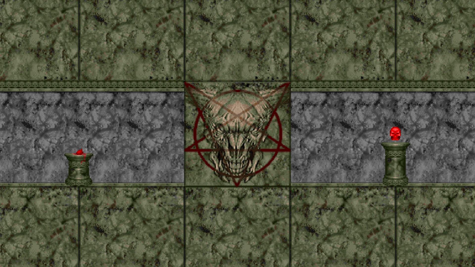 doom (game) video games texture skull