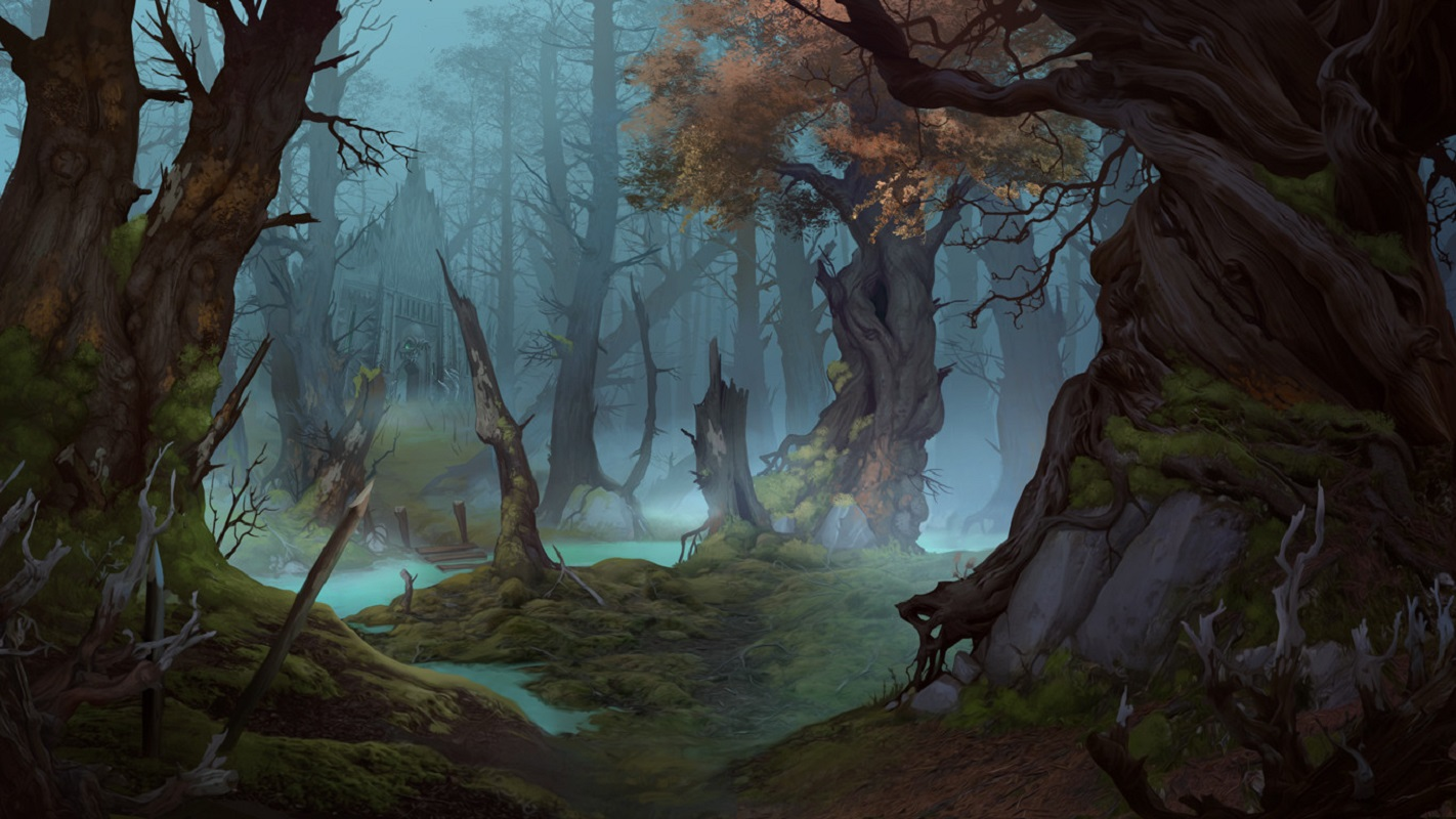 fantasy art digital art elizaveta lebedeva swamp