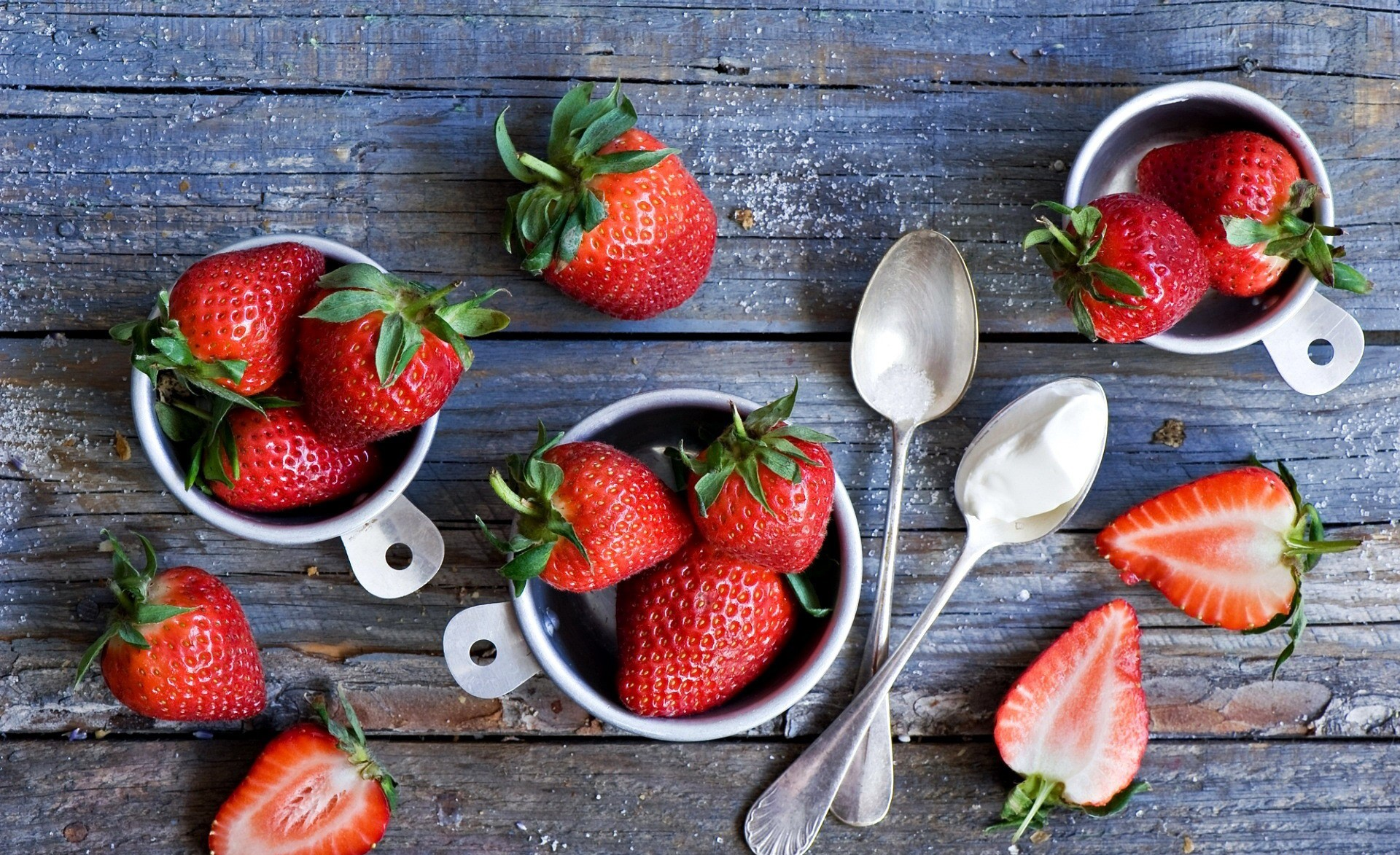 food spoon berries fruit strawberries