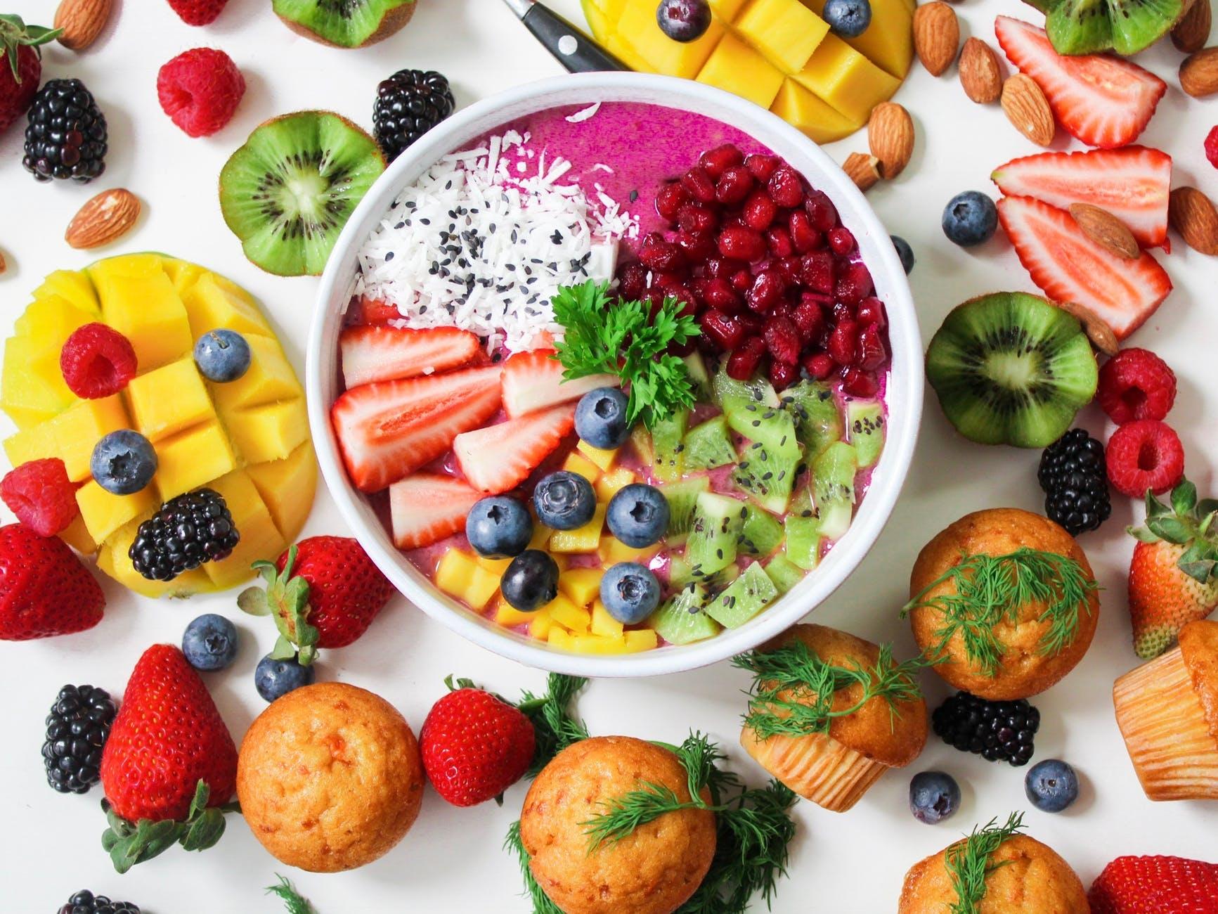 food strawberries kiwi (fruit) berries fruit