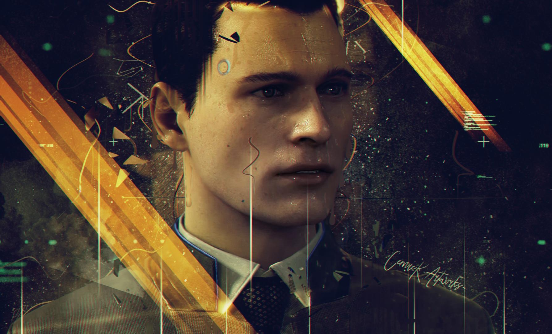 games art detroit become human connor (detroit: become human) detroit: become human video game art
