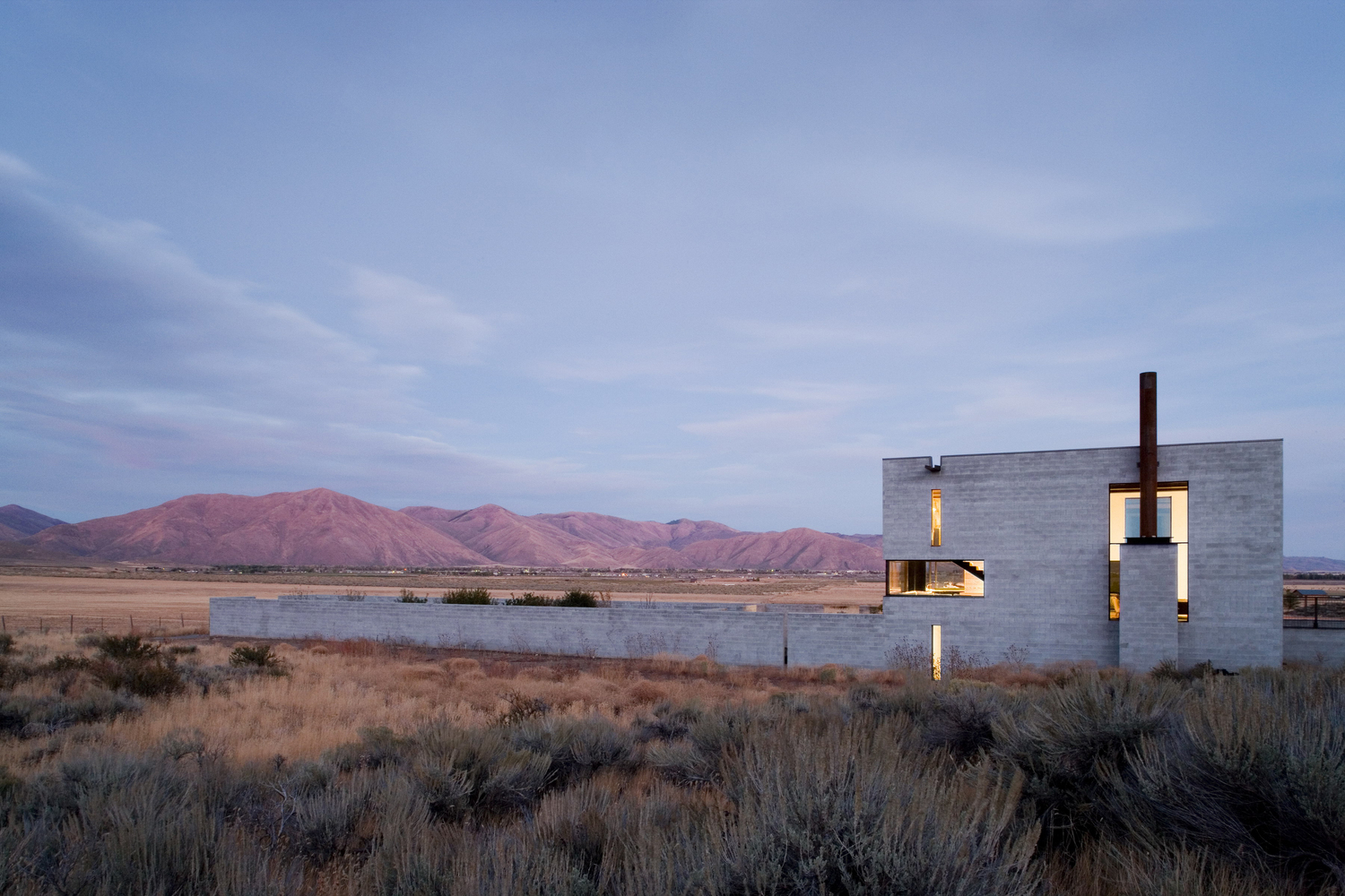 house modern architecture mountains