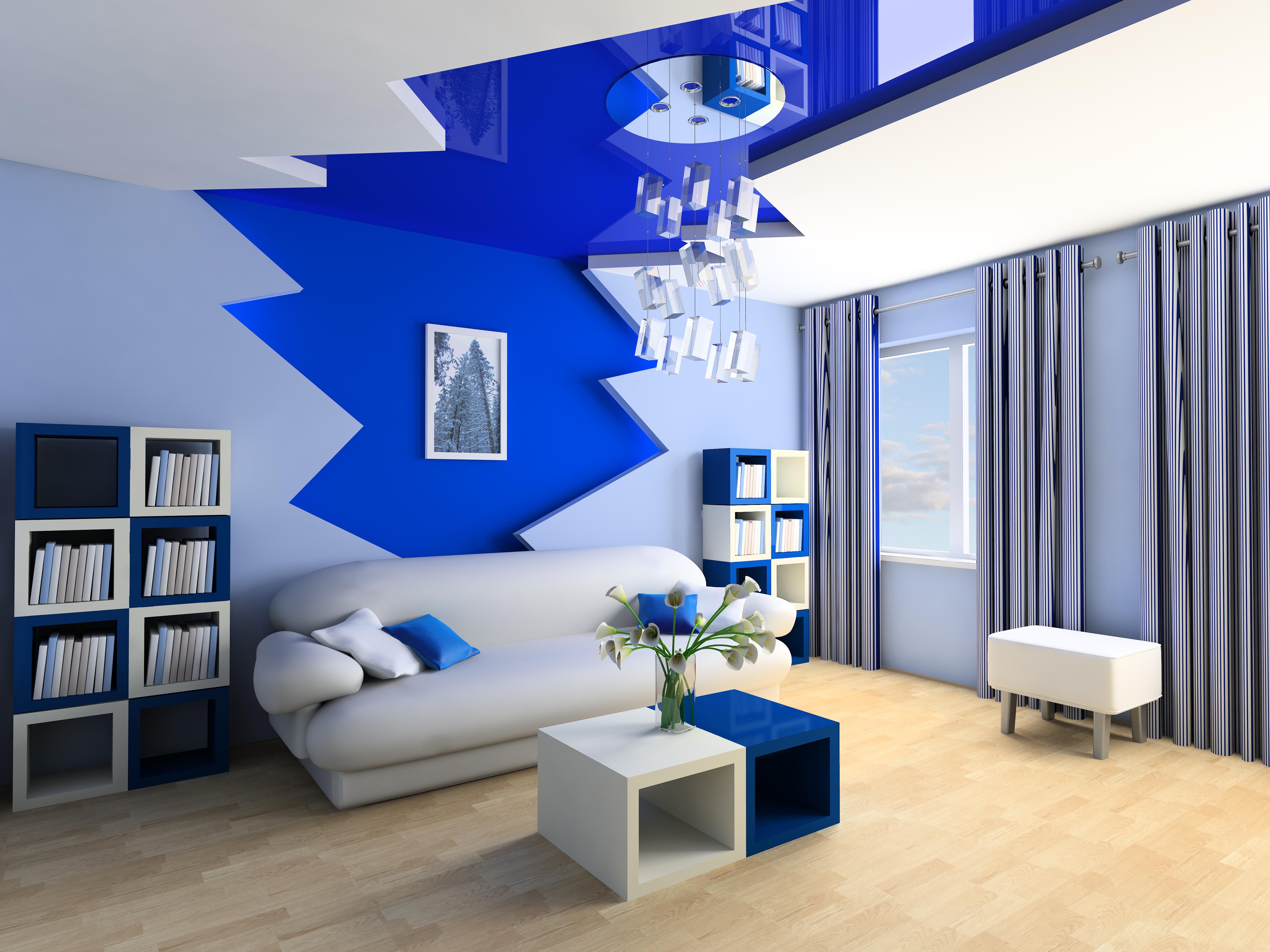 interior design digital interior 3d design blue