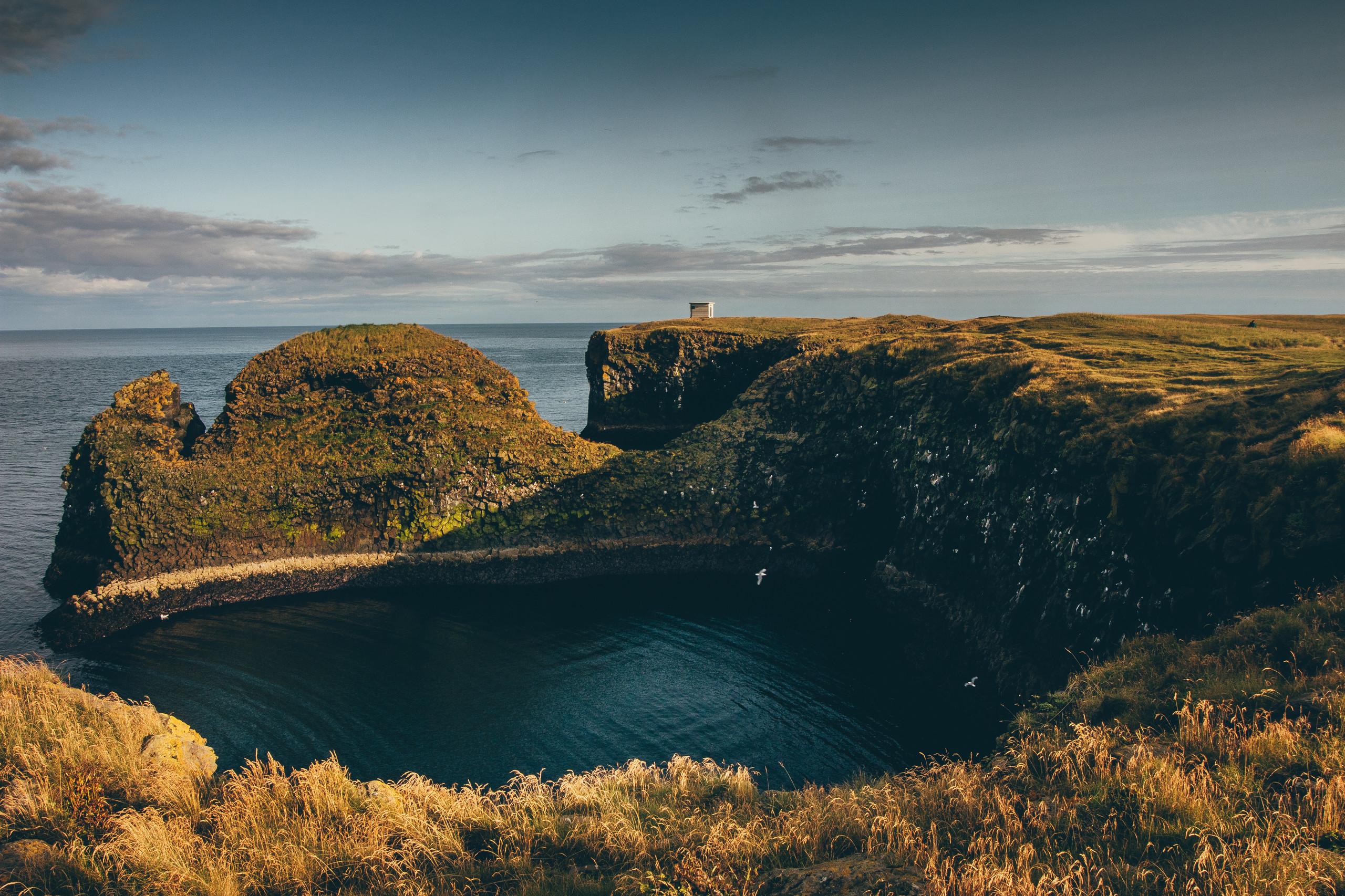 nature far view sea cliff landscape