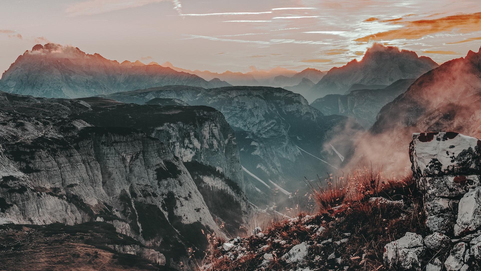 nature mist mountains