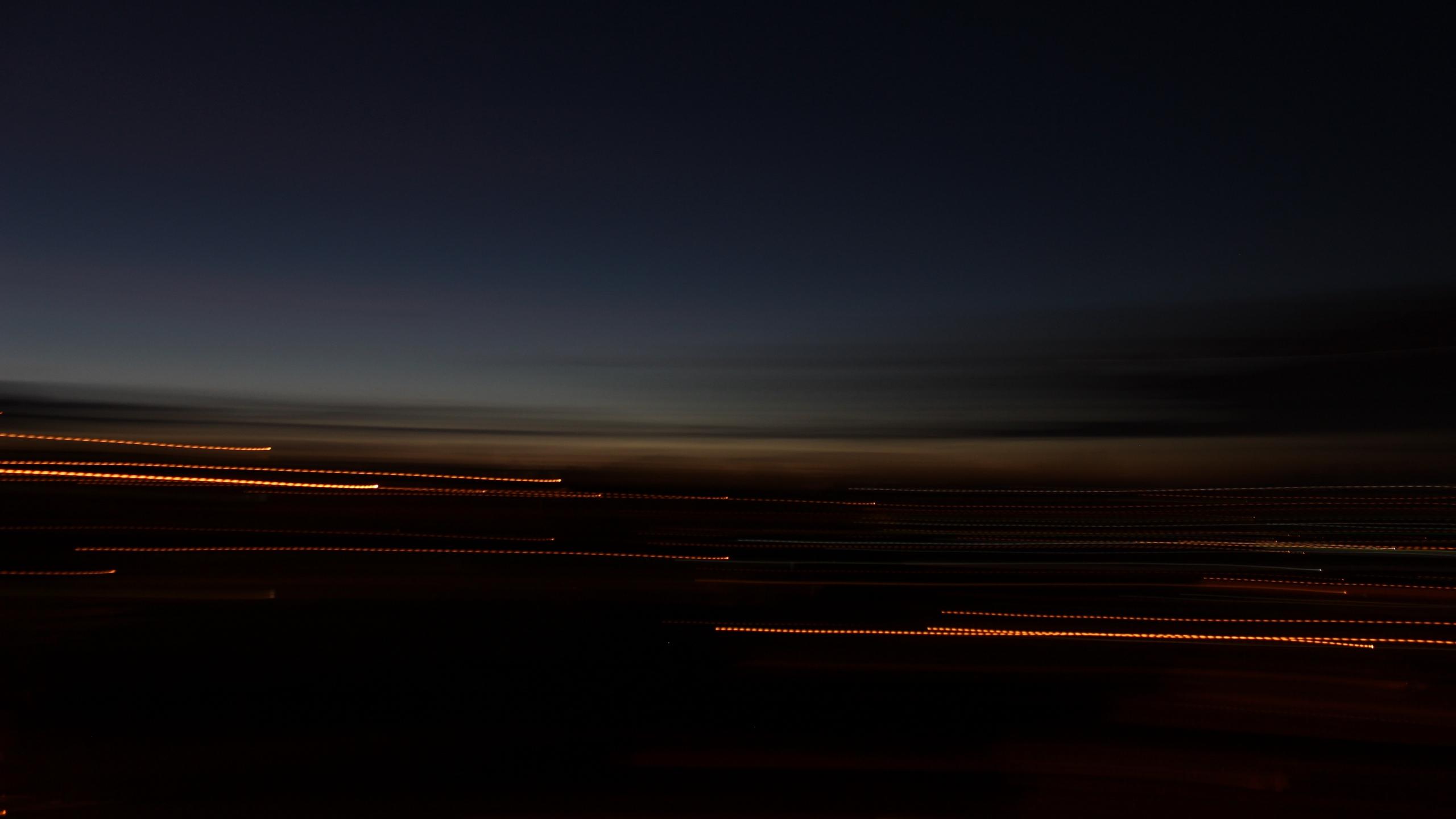 road long exposure dark lights