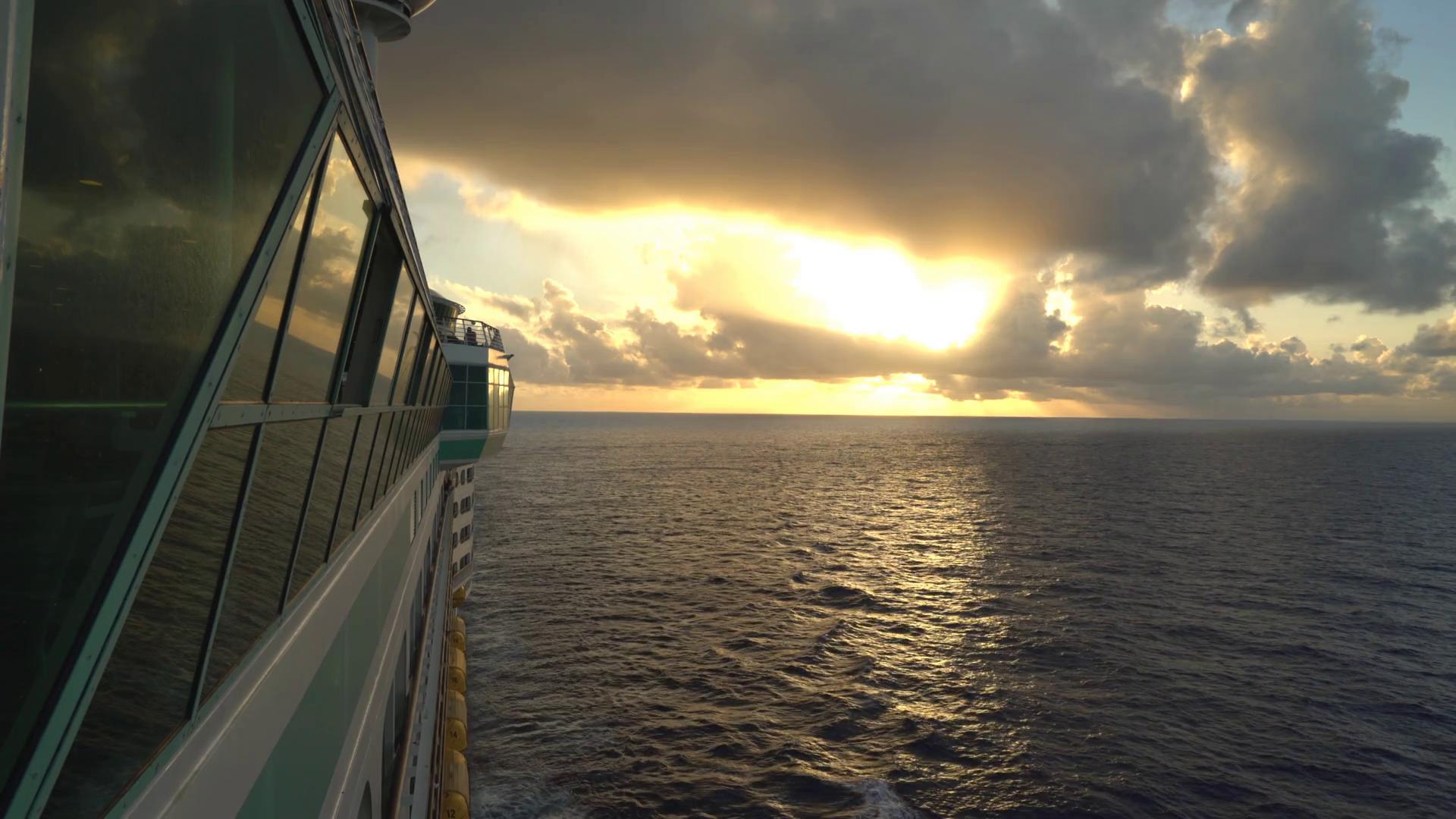 sea sunset cruise ship water