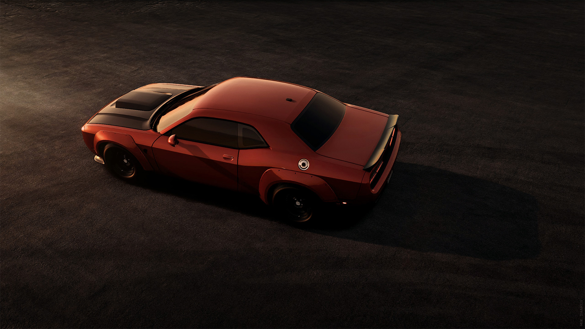 sport edition dodge challenger texture minimalism machine challenger classic car widebody orange car srt dodge sport  sports car