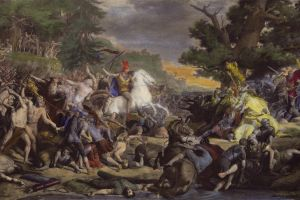 1864 (year) europe gemälde von friedrich gunkel the battle at teutoburg forest classical art 1864 painting