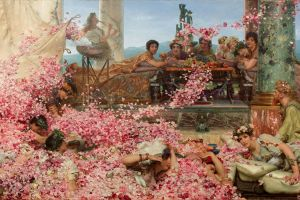 1888 painting europe lawrence alma-tadema classical art 1888 (year) the roses of heliogabalus