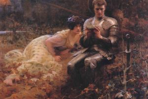 1894 (year) 1894 europe the temptation of percival painting arthur hacker classical art