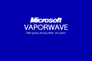 1990s microsoft vaporwave