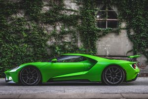2017 (year) 2017 ford gt green cars car side view photography