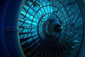 3d graphics 3d graphics turbine shining blue
