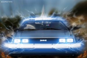 500px time machine 2016 (year) toys car vehicle delorean movie vehicles digital art