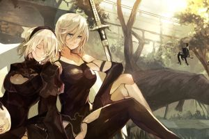 88 girl girl with weapon 88 girl nier: automata nier