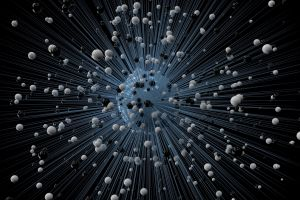 abstract 3d abstract black background lines digital art balls sphere