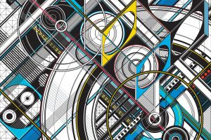 abstract architecture digital art