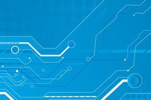 abstract blue cyan technology circuitry digital art