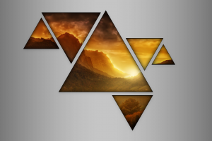 abstract triangle mountains