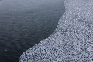 aerial view sea nature ice portland landscape winter