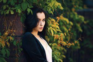 aleksa tereschuk portrait dark hair dmitry medved brunette women outdoors women