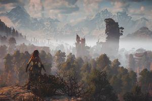 aloy (horizon: zero dawn) video game characters video games horizon zero dawn  screen shot horizon: zero dawn