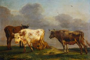 animals painting artwork classical art cow