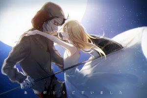 anime anime boys anime girls moon dress blonde satsuriku no tenshi