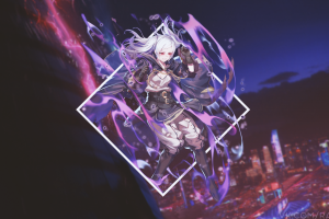 anime anime girls robin (fire emblem) picture-in-picture fire emblem awakening