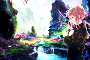 anime anime girls violet evergarden picture-in-picture