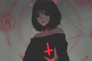 anime girls anime dark hair