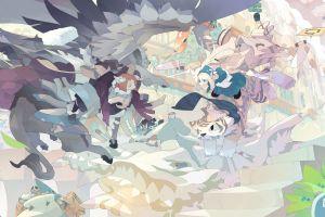 anime girls anime fantasy art original characters