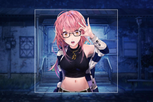 anime girls anime girls blurred anime picture-in-picture glasses