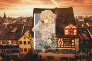 anime girls anime violet evergarden picture-in-picture