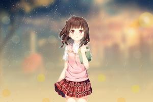 anime girls fan art anime japan anime vectors photoshop anime nanbaka anime nanbaka loli cartoon brunette miniskirt anime sky