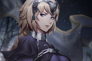anime girls fantasy girl fate/grand order blonde zeronis fate series jeanne d'arc anime fate/apocrypha