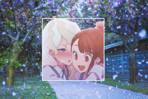 anime girls picture-in-picture anime little witch academia
