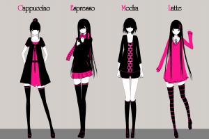 anime girls scarf long hair meganekko [emailprotected]  dress shirt original characters skirt short hair thigh-highs simple background glasses