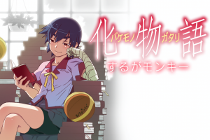 anime school uniform white skin tomboy basketball artwork monogatari series reading purple hair natural light kanbaru suruga books anime girls