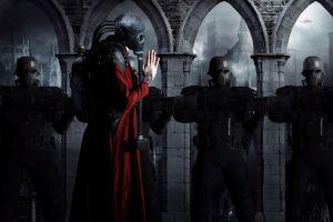 apocalyptic dark mask gas masks futuristic