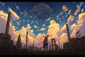 apocalyptic sky digital art landscape artwork