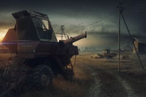 apocalyptic video games dark video game art vehicle s.t.a.l.k.e.r.