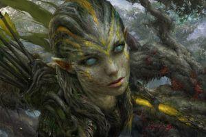 archer warrior elves fantasy art