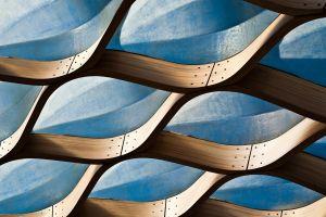 architecture blue shapes building