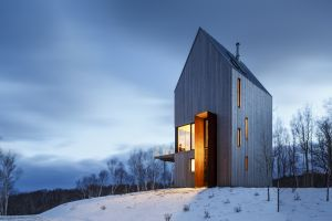 architecture snow house cabin modern