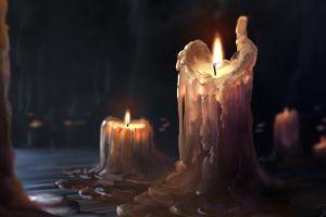 artstation wax artwork burning candles